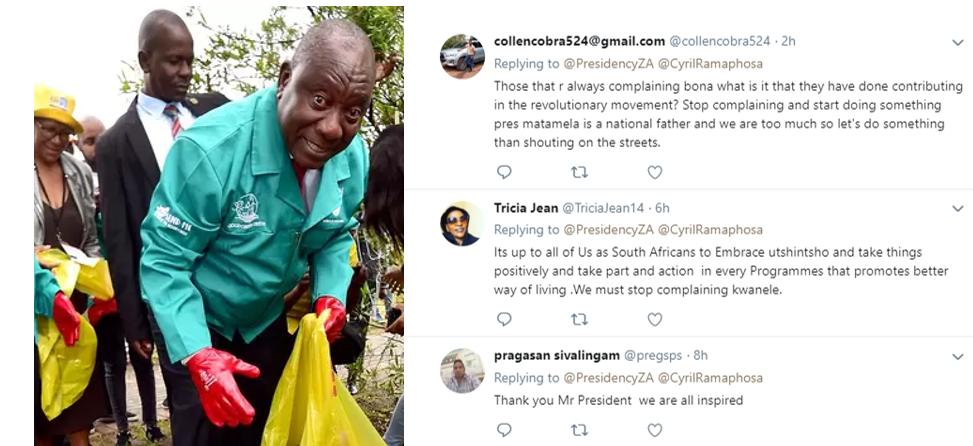 Ramaphosa at Mdantsane and Twitter comments