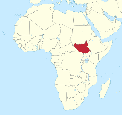 map-of-south-sudan-in-africa