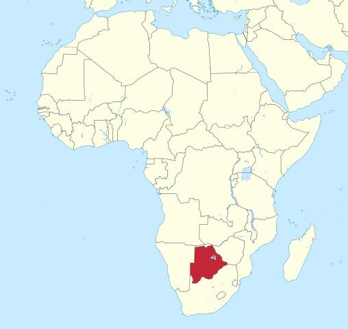 Botswana-on-map-Africa